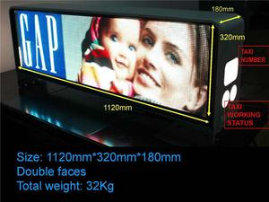 taxi advertising display taxi message diplay PH20 DIP LED MODULE 320x160