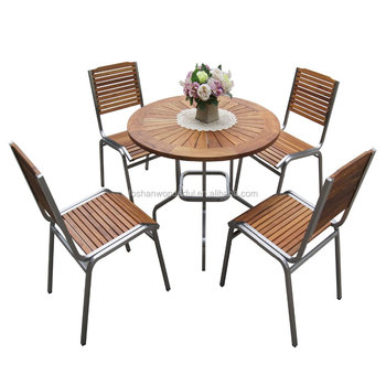 outdoor furniture set teak stainless steel garden furniture outdoor - Garden Furniture Steel