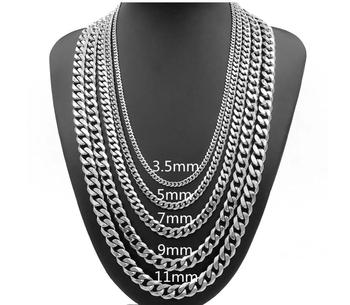 3.5mm 20inch Stainless Steel Mens Miami Cuban Link Chain - Buy ... 6e0fb9ea69