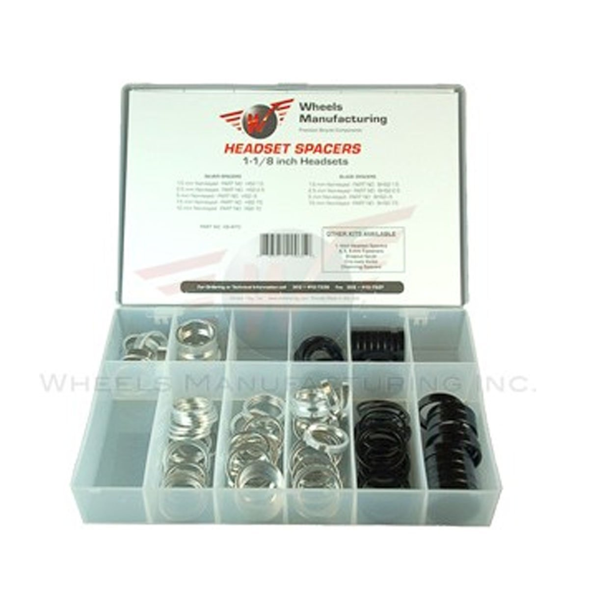 Wheels Manufacturing Assorted Spacers Kit (105-Piece), 1-1/8-Inch