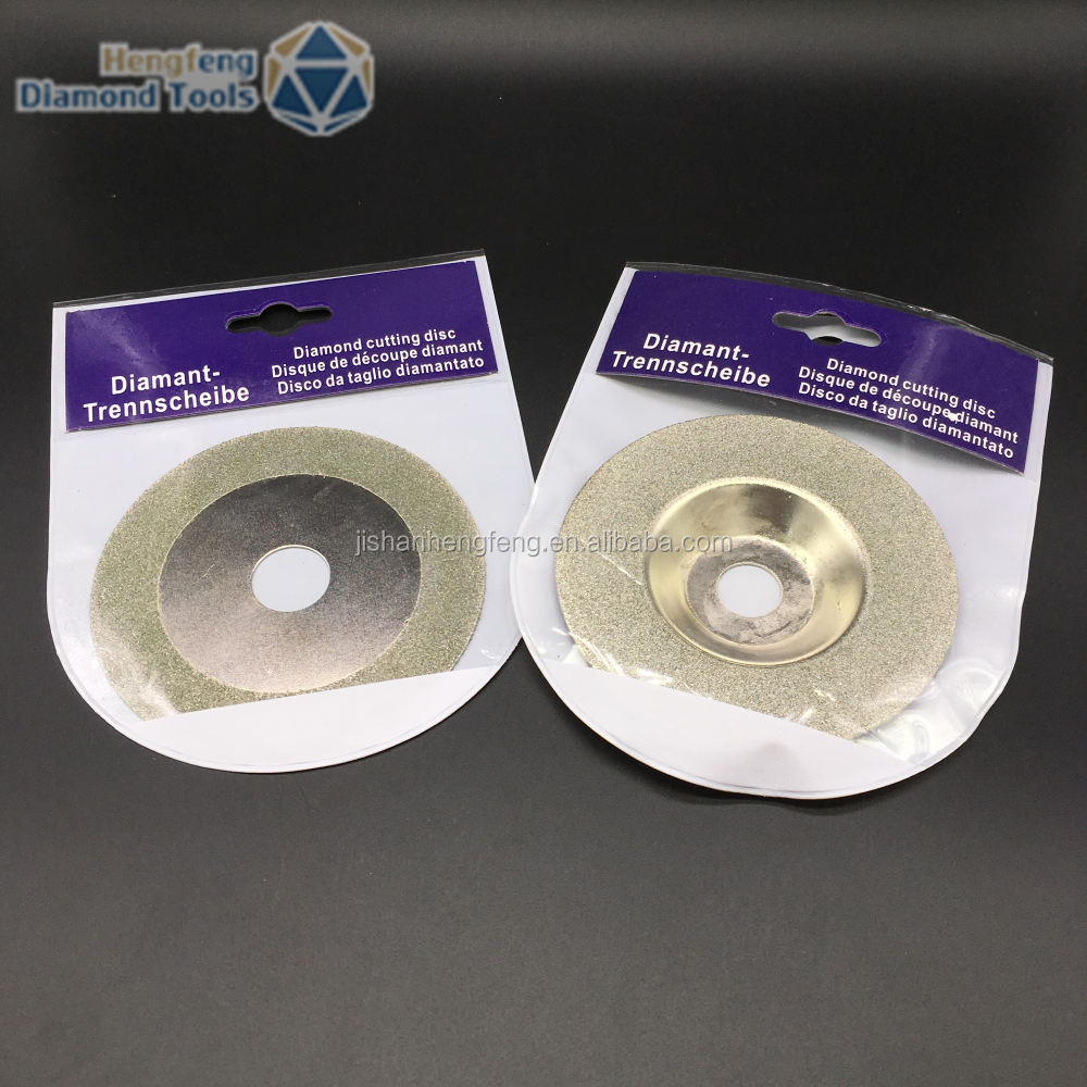 Electroplated cup wheel diamond grinding disc for concrete glass cutter