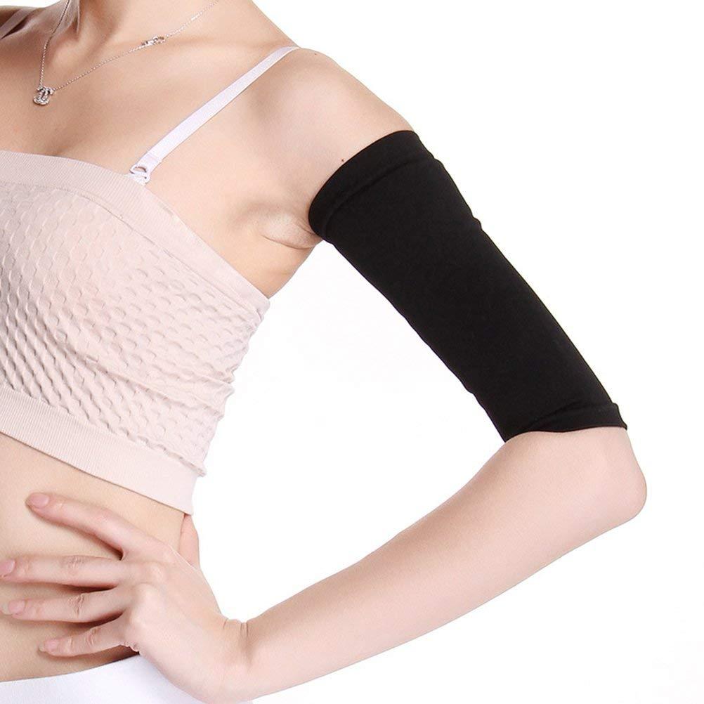 00d0f5f831 Get Quotations · ULTNICE Compression Slimming Arm Sleeves Improve Shaper  Sleeve Arms Slimmer For Sport Fitness (Black)