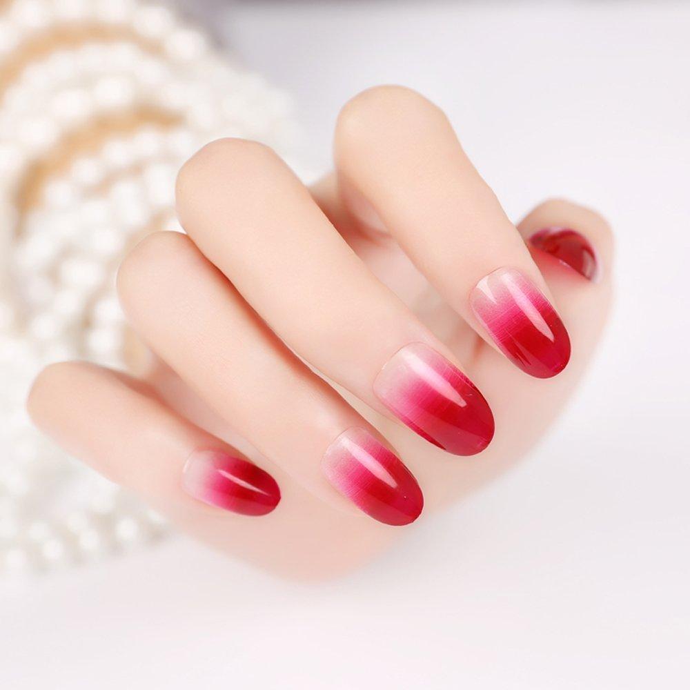 Buy enForten False Fake Nails French Manicure Pretty Nail Pre ...