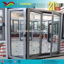 Hot selling good quality flexible designs warehouse heat insulation tempered glass office door