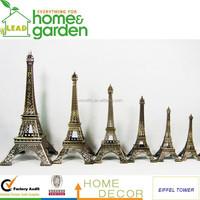 Eiffel Tower Replica Brushed Copper Statues Souvenir