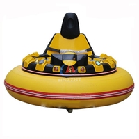 Theme park kids ufo spin zone inflatable bumper cars