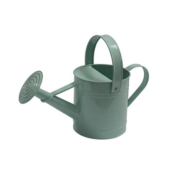 Power coated cheap watering the flowers tools galvanized metal watering can