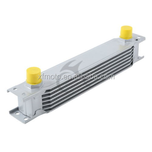 TCMT XF230501-SL Motorcycle SILVER UNIVERSAL 7ROW AN-10AN ENGINE TRANSMISSION RACING OIL COOLER BRAND NEW