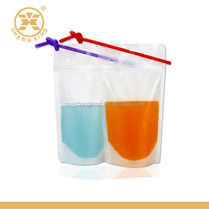 Customized Standing Juice Drink Pouch With Straw, Gravure Printing Plastic Beverage Packing Bag, OEM Bags Changxing