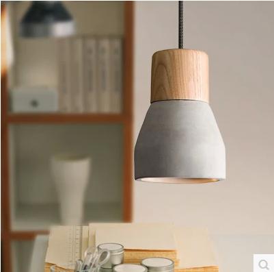 home living grau beton pendelleuchte eiche holz h ngen lampenschirme kronleuchter produkt id. Black Bedroom Furniture Sets. Home Design Ideas