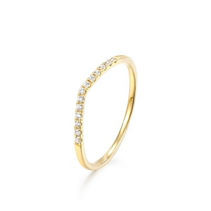 Popular Top Quality 14K Gold With Diamond Ring for Women