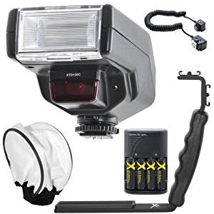 Digital Dedicated TTL 130C Flash Kit for Canon Digital EOS Rebel SL1, T1i, T2i, T3, T3i, T4i, T5, T5i EOS 60D, EOS 70D, 50D, 40D, 30D, EOS 5D, EOS 5D Mark III, EOS 6D, EOS 7D, EOS 7D Mark II, EOS-M Digital SLR Cameras
