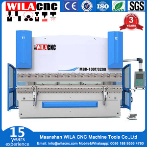 China High Efficiency Electromagnetic 500kn force Sheet Metal Bending Machine/2.5m manual Sheet Metal Press Brake
