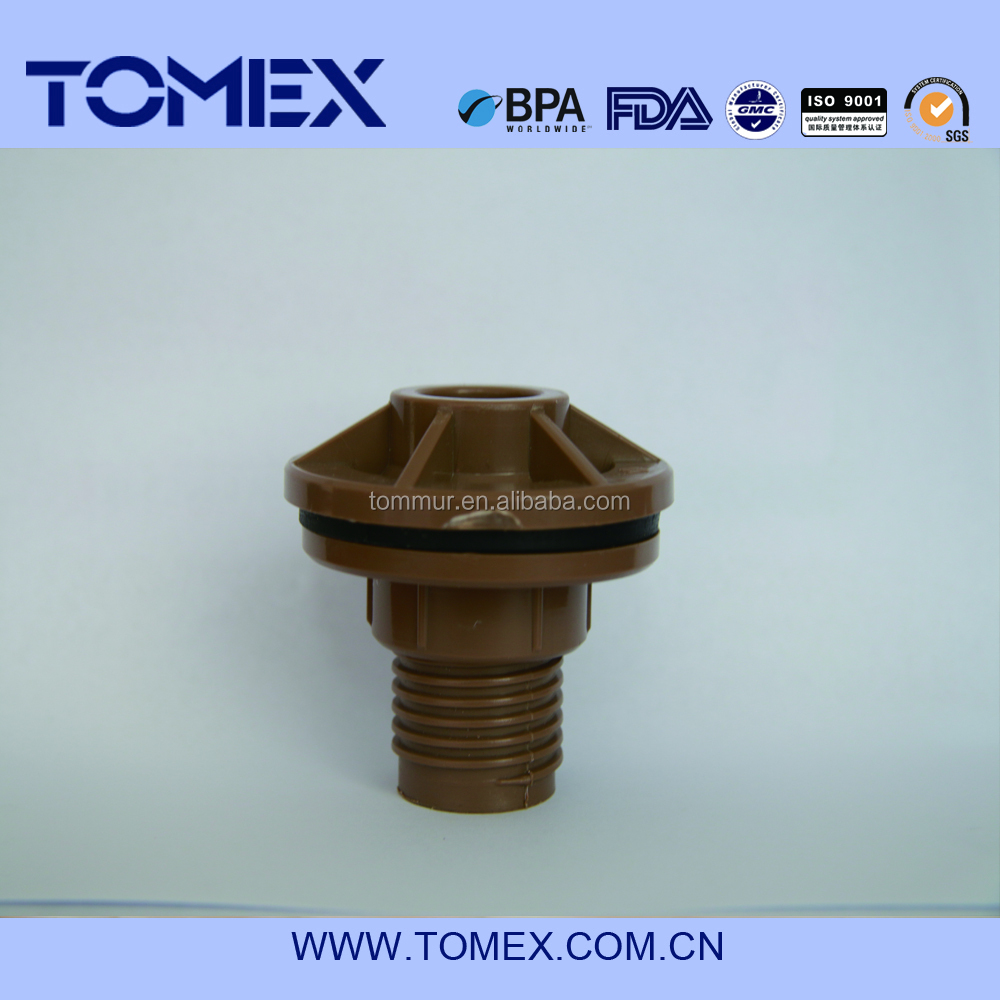 New raw material brown color New type plastic PVC Water tank connector