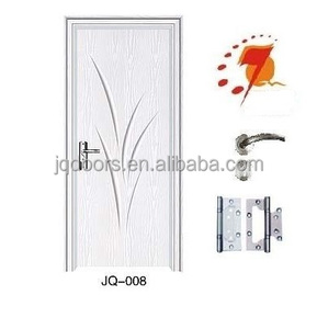 door, JQ-008 moden PVC/MDF door design for Kosovo market,cheap wooden door