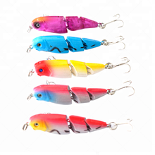 3D Eyes Fish Hook Tackle Swimbait Artificial Bait Hard Plastic 6.5CM 6.5G Minnow Lures multi section plastic hard bait