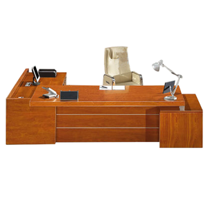 Wooden executive office desk MDF long table desk classic director desk (FOH-C3032S)