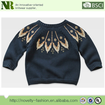 Baby boy knitting pattern jacquard pattern design sweater for kids soft  clothes baby