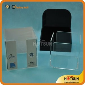 Clear Acrylic Note Paper Holder Memo Holder Box Display Stand