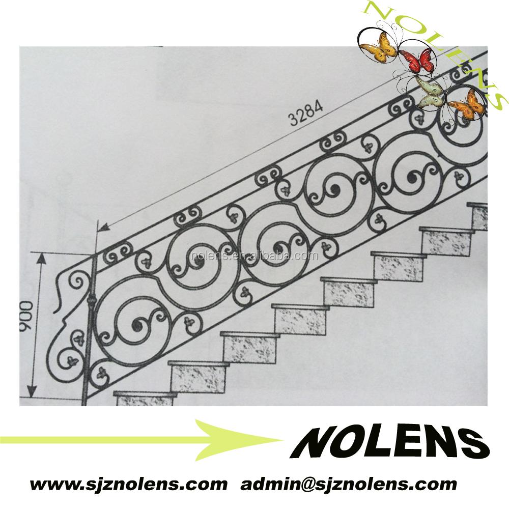 Utilizado puertas de hierro forjado puerta/hierro forjado pasamanos de la escalera interior ...