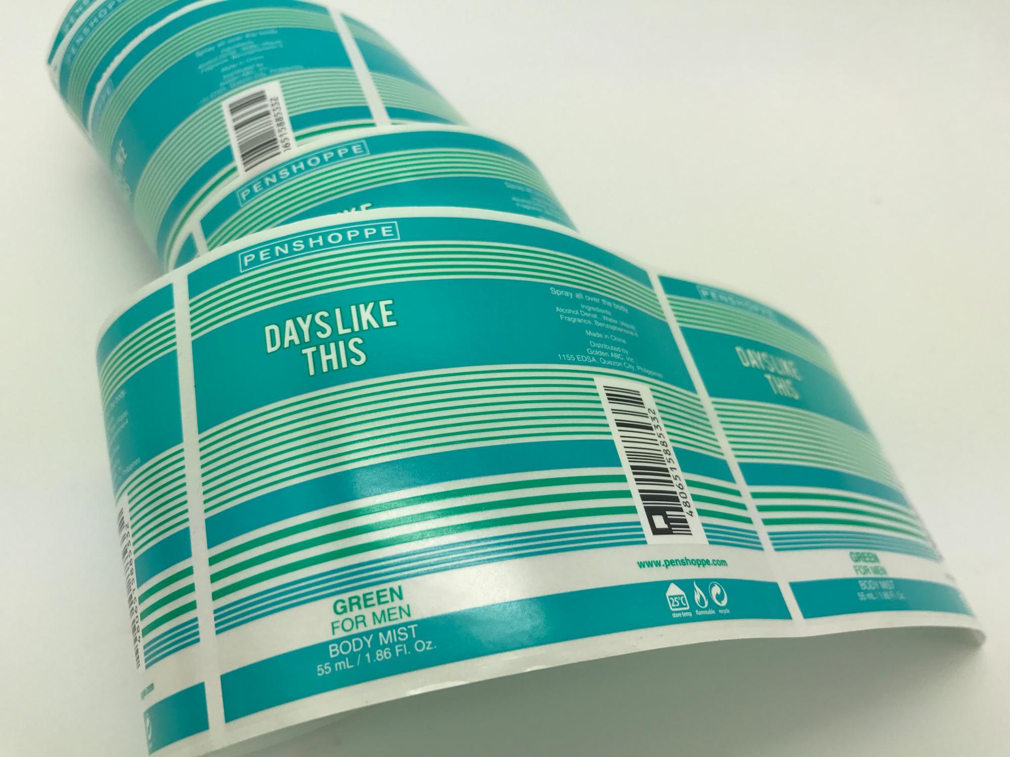 中国製造カスタム自己粘着ビニール紙ステッカーボトルlabeslサイズ