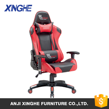 Executive Swivel Leather Office Chair,Lumbar Support and Headrest,Racing Style High-back Gaming Chair
