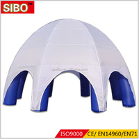 2017 hot sale customized air filled inflatable tent with blower for events and party