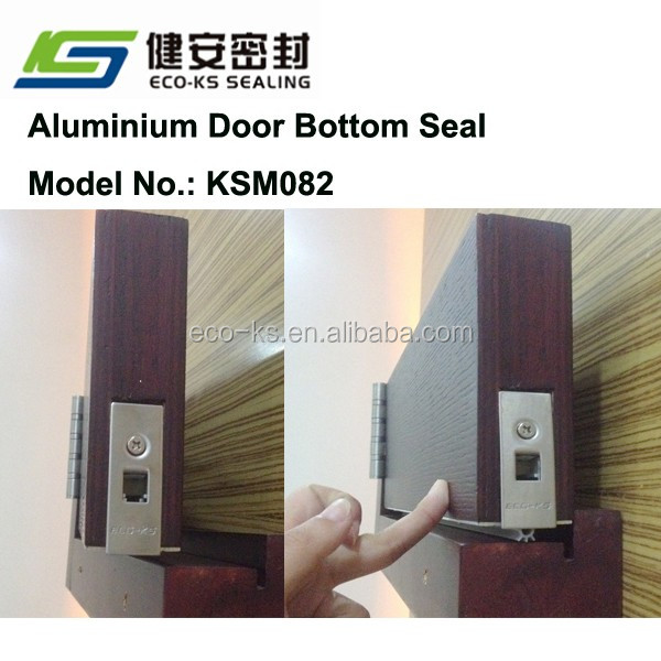 Aluminium Automatic Drop Down Door Bottom Seal Concealed