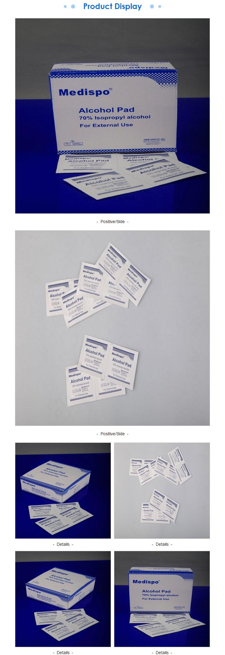 SEN 100 unids Desechables de algod/ón esterilizaci/ón Alcohol Limpia Almohadilla Primeros Auxilios desinfecci/ón Blanco