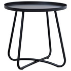 Metal furniture supplier in China metal round end table side table coffee table with knock down design