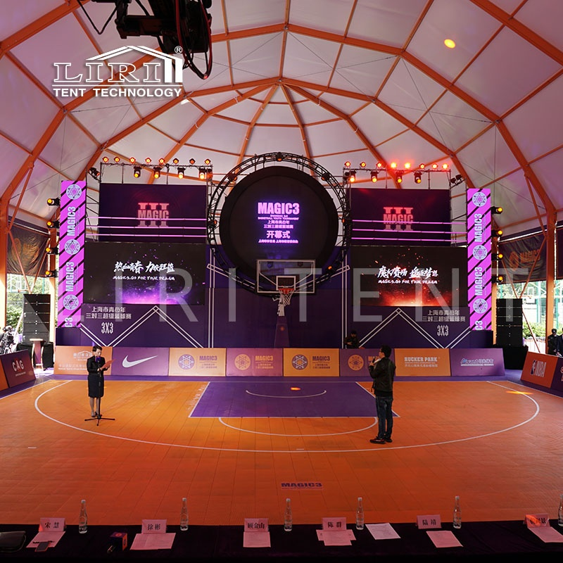 20x50m Large Inside Space Modular Design Movable  Polygon Sport Basketball Court Tent