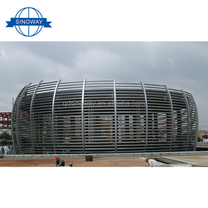 OEM Custom shaped prefabricated steel structure building ,light peb steel structure