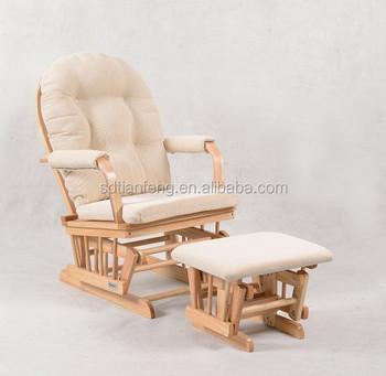 Great Loading Quantity Wooden Nursing Chair Nature+Cream