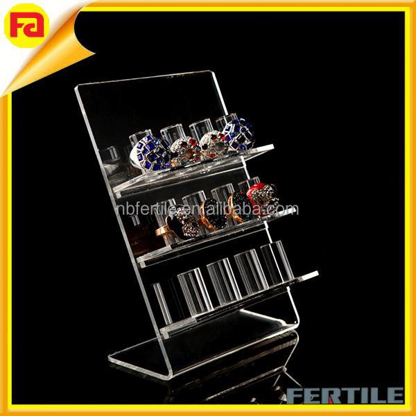 Acrylic ring display props jewelry counter transparent display stand