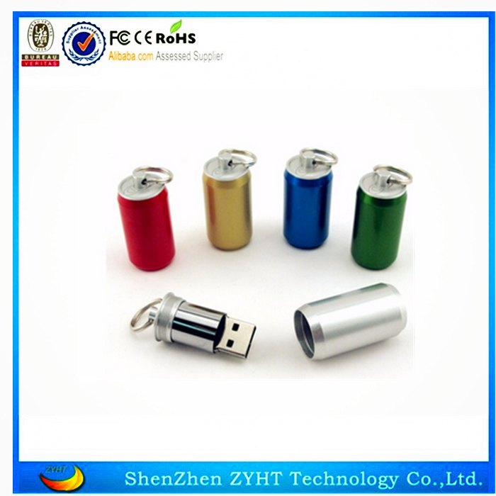 2015 Hot selling low price cola bottle usb flash drive wholesale free samples
