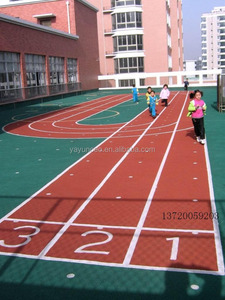 all weather spray coat running track