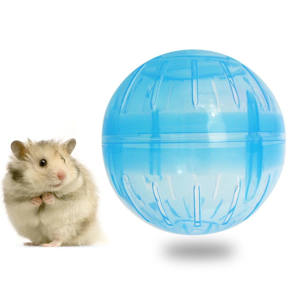 Pevor Pet Hamster Exercise Ball - Safe Jogging Play Cage Hamster Mini Roll-Around Rolling Ball Toy for Small Pet, Dia 10cm