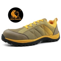 PU injection lightweight fiberglass toe hiking sport safety shoes men
