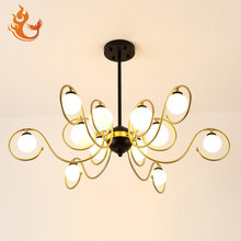 China factory direct black and gold pendant light ,12 lights modern pendant lighting