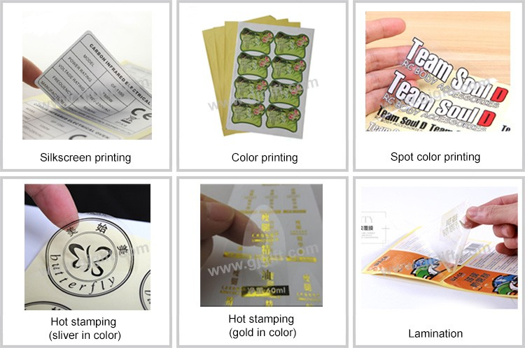 Popular colorful low price adhesive holographic clear sticker