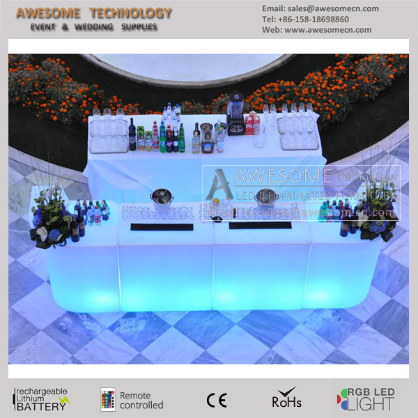 led illuminated outdoor banquet patio bar furniture for sales (BC110)
