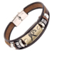 Chinese factory pu leather charm sign zodiac bangle bracelet