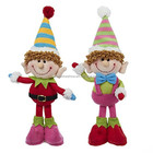 Custom OEM 2018 New Christmas Gift Plush Girl And Boy Elf Doll Fashion Cartoon Kids Stuffed Soft Plush Elf
