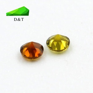 Chinese supply colorful 1.5mm round shape natural tourmaline stones