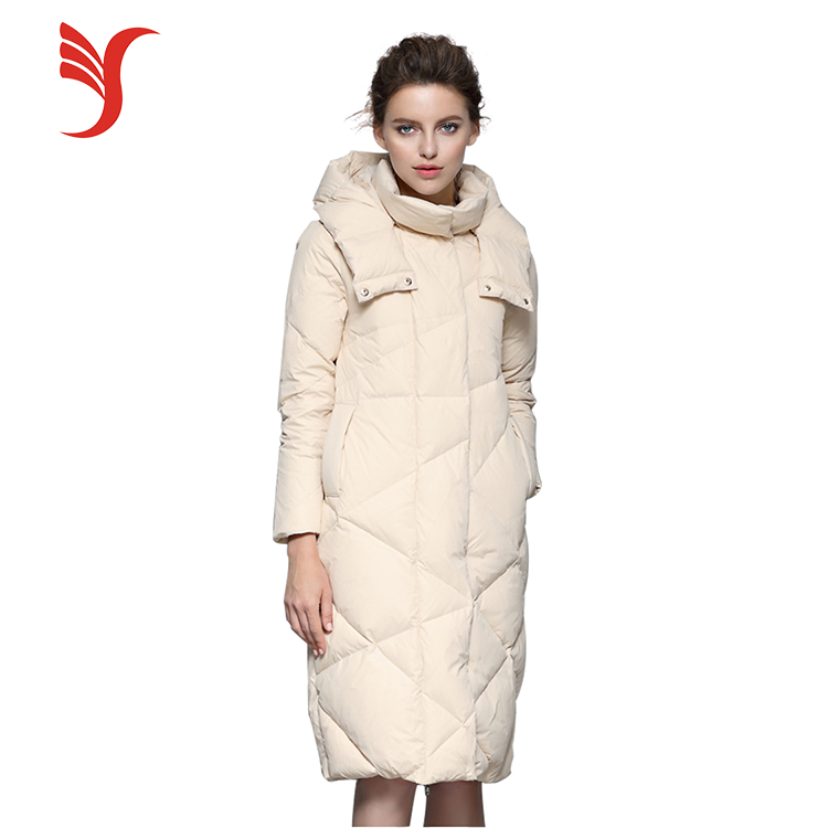 Fashion design slim outdoor warm parka duck long down jacket for the winter