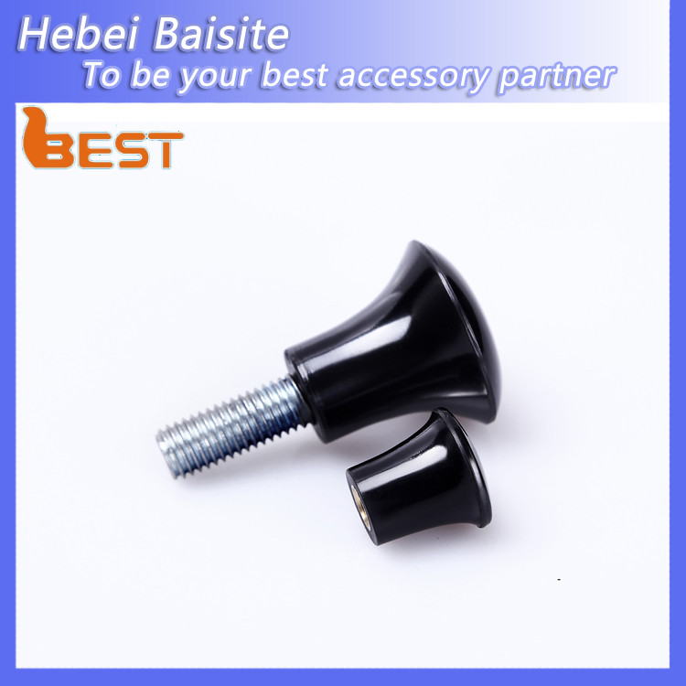 China Hot Sale Black Plastic Adjustable Rotary Furniture and Machine Handle
