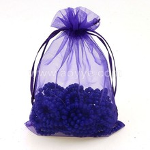 Wholesale wedding pure color candy gift cheap purple beautiful elegant economical custom printed organza drawstring bags