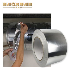High Temperature Reinforced Aluminum Foil Fiber Glass Cloth Tape for Thermal Insulation