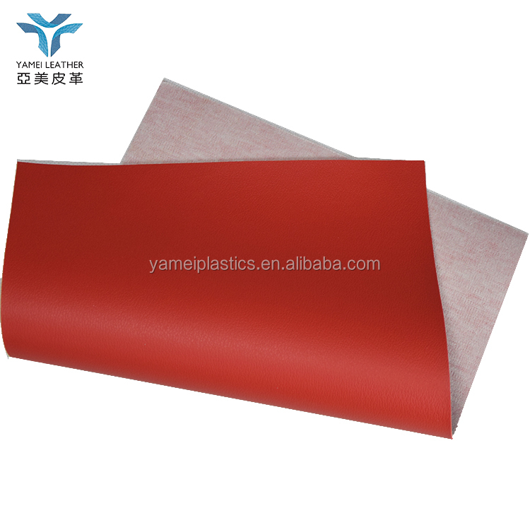 BK CUSTOM RED pvc leather fabric for office furniture and outdoor sofa