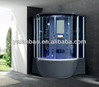 Black Acrylic Steam Room Shower Cabin with function/TV/MP3/Radio/Ozone 2 person bathroom use